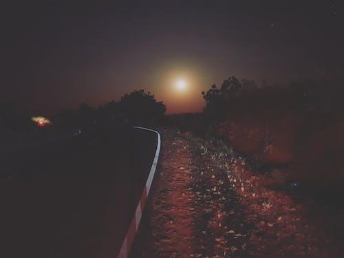 Základová fotografie zdarma na téma cestování fotografie, fotografie přírody, měsíc, měsíční svit