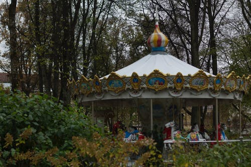Free stock photo of carousel, children, park