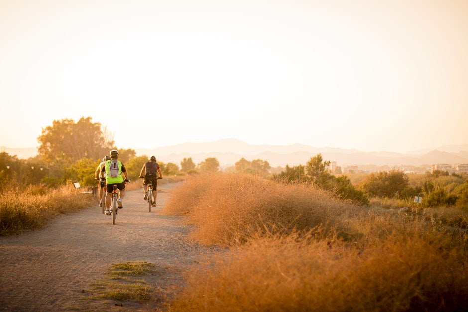 bicycle tour, bicycles, bicyclists