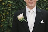 man, suit, tie