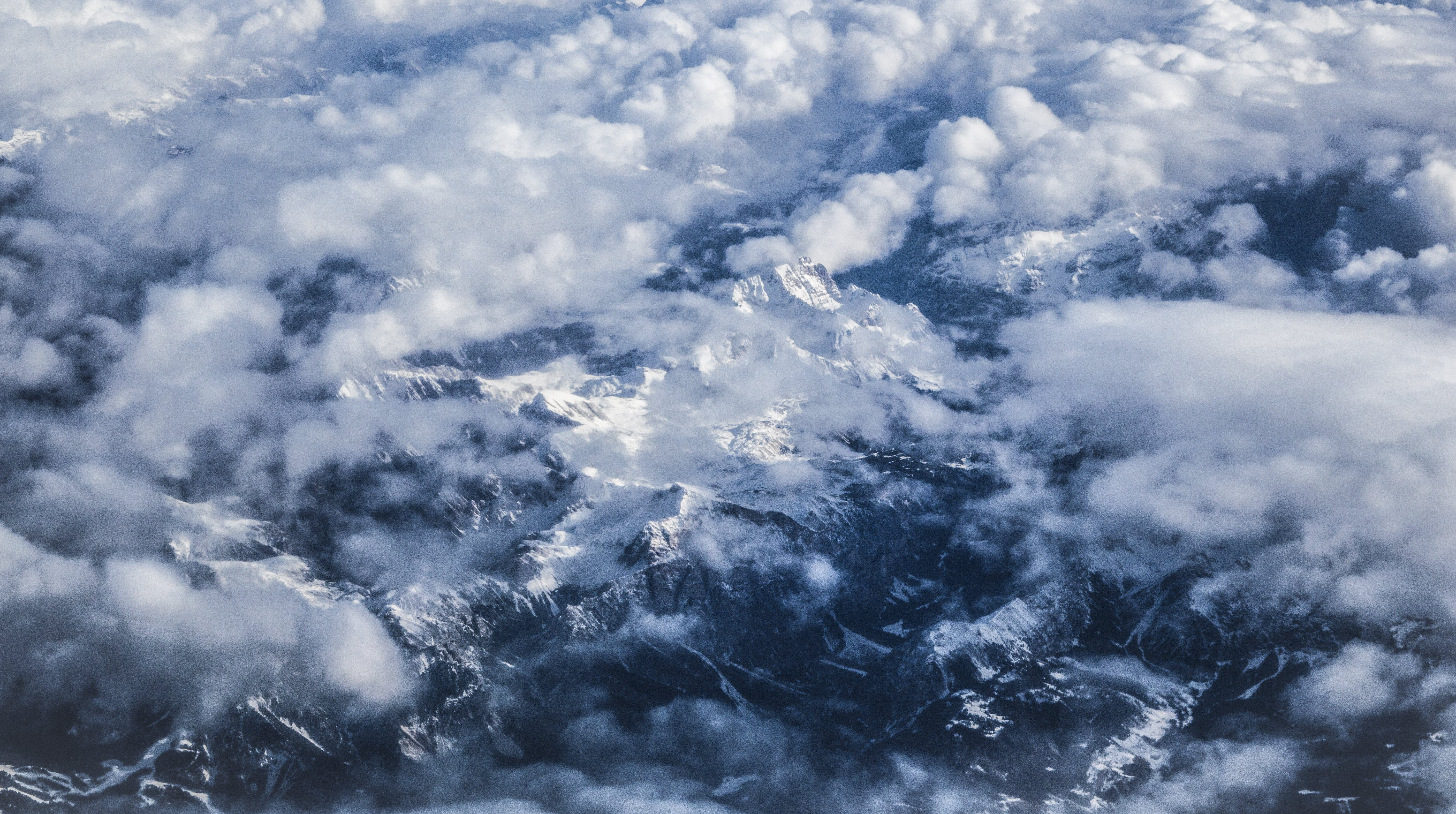Free stock photo of alps, cloudscape, cold, fly