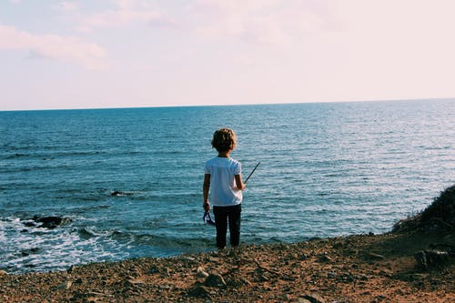 Child on Shoreline