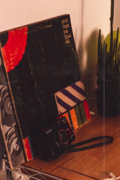 Darmowe zdjęcie z galerii z aparat, aparat analogowy, kaktus, płyta winylowa