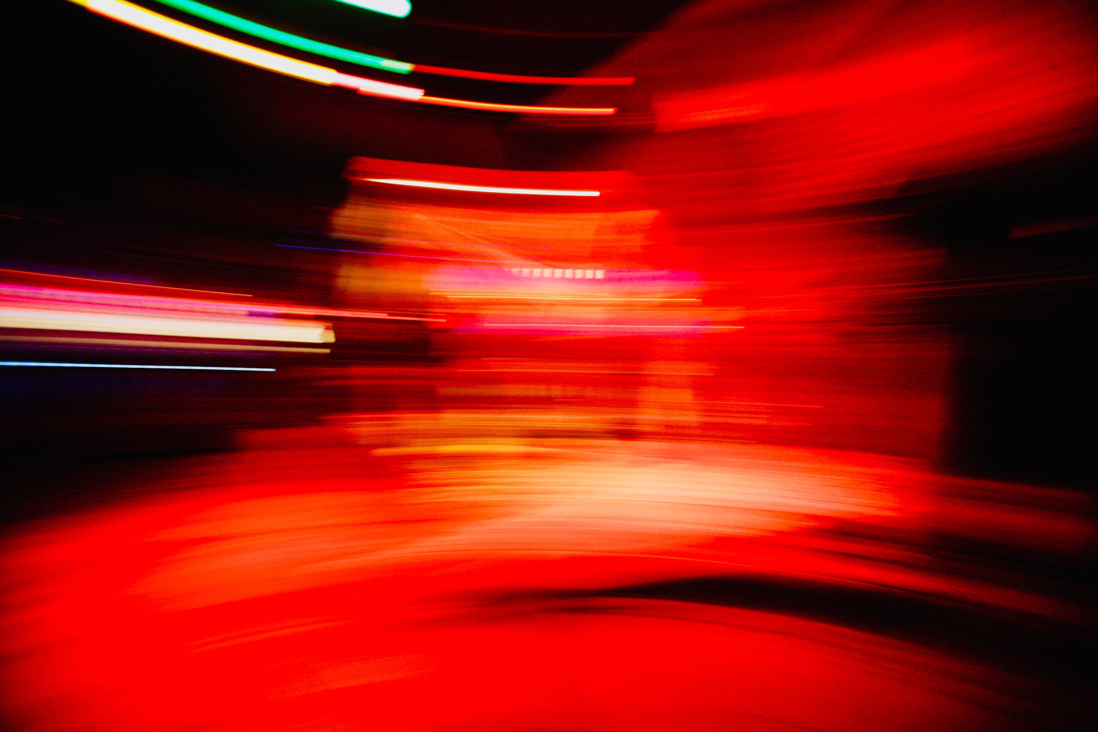 Free stock photo of abstract, light trails, lights, red