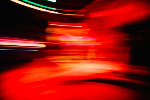 Free stock photo of light trails, lights, red
