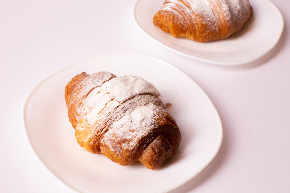 Pastries Served On Plates