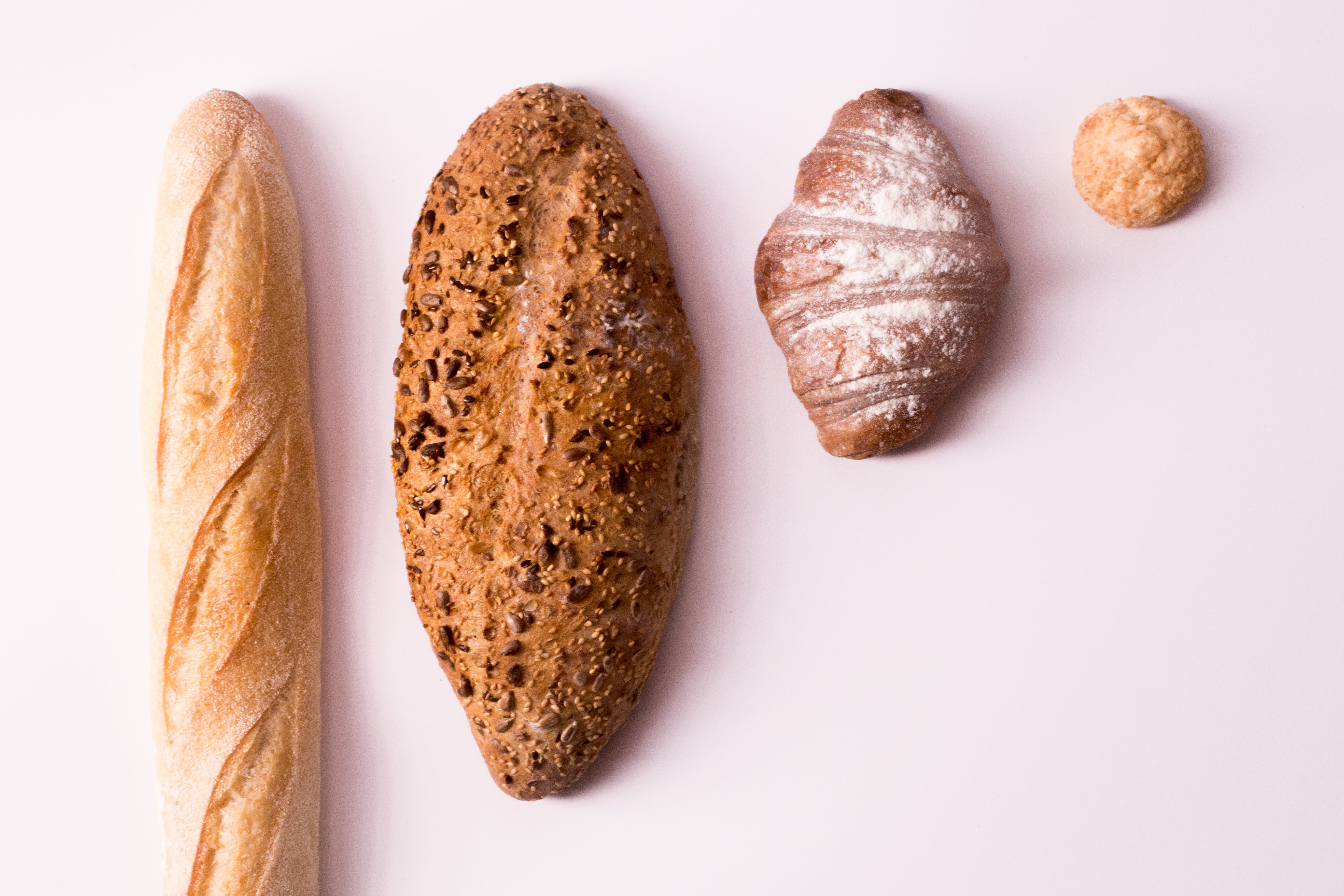 Flatlay Photography Of Variety Of Breads