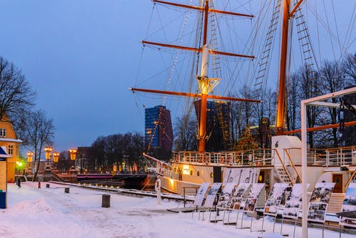 chrystmas, klaipeda, зима içeren Ücretsiz stok fotoğraf