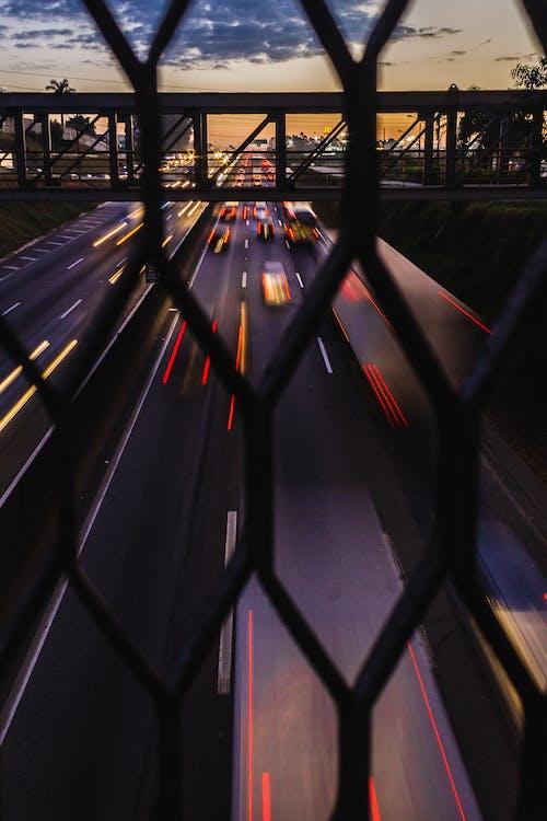 交通, 汽車, 籬笆, 路 的 免費圖庫相片