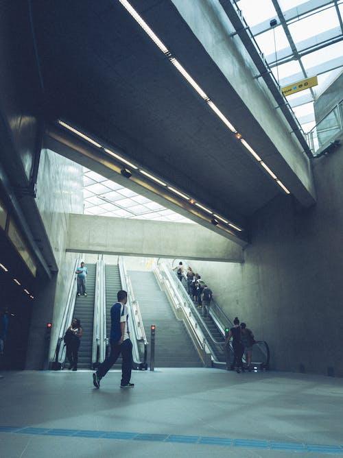 Darmowe zdjęcie z galerii z architektura, budynek, ludzie, schody ruchome