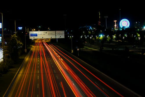 Free stock photo of cars, highway, long-exposure