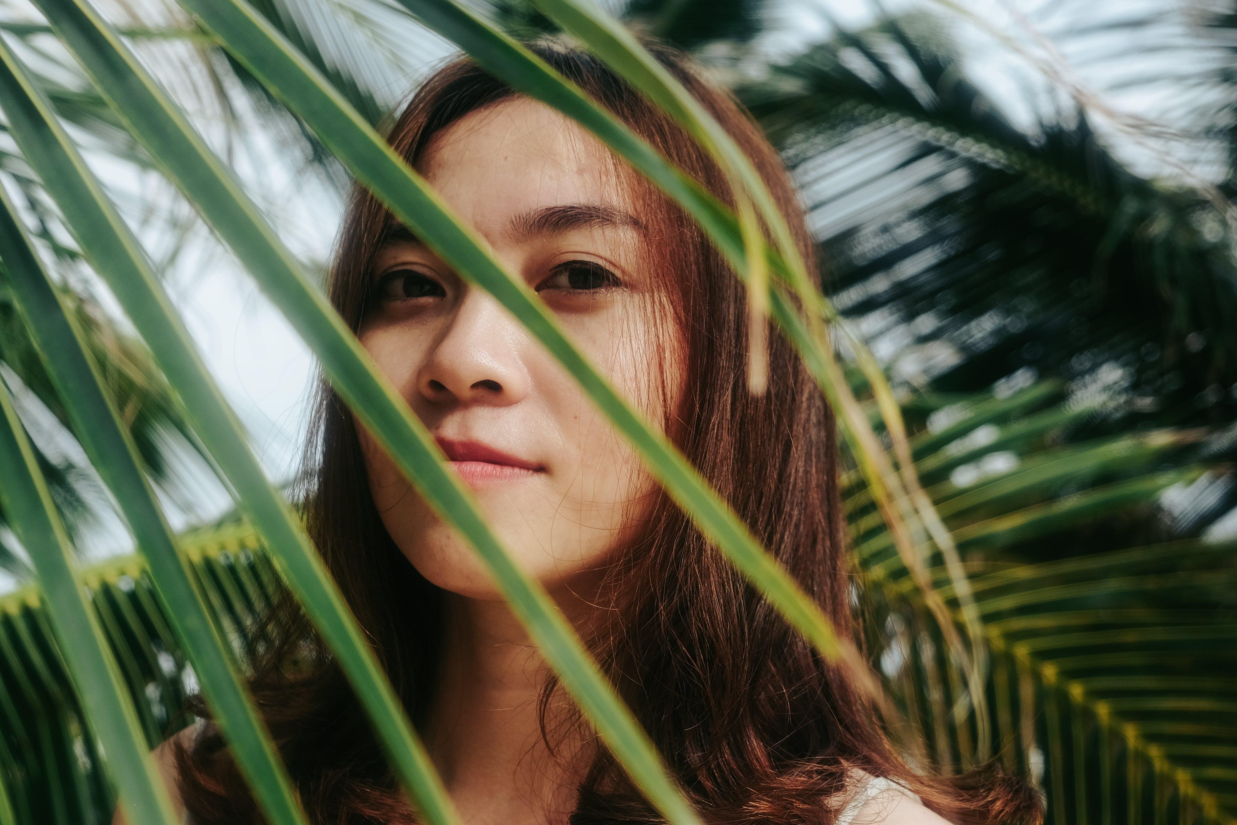 Foto profissional grátis de árvores, atraente, cabelo castanho, concentração