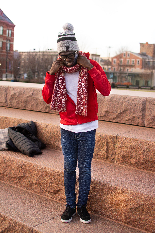 Free stock photo of Basko, detroit, red, scarf