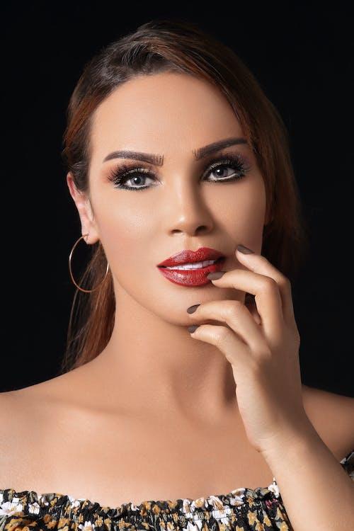 Gratis lagerfoto af farve, nice, øjenmakeup, smuk kvinde
