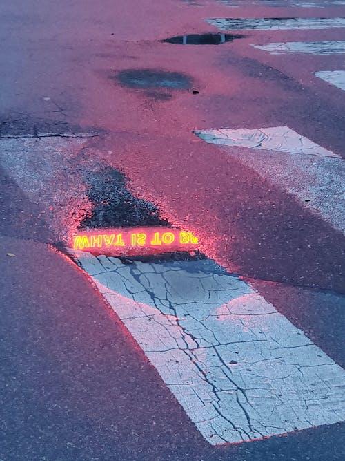 도로, 물웅덩이, 보행자 전용 도로, 아스팔트의 무료 스톡 사진