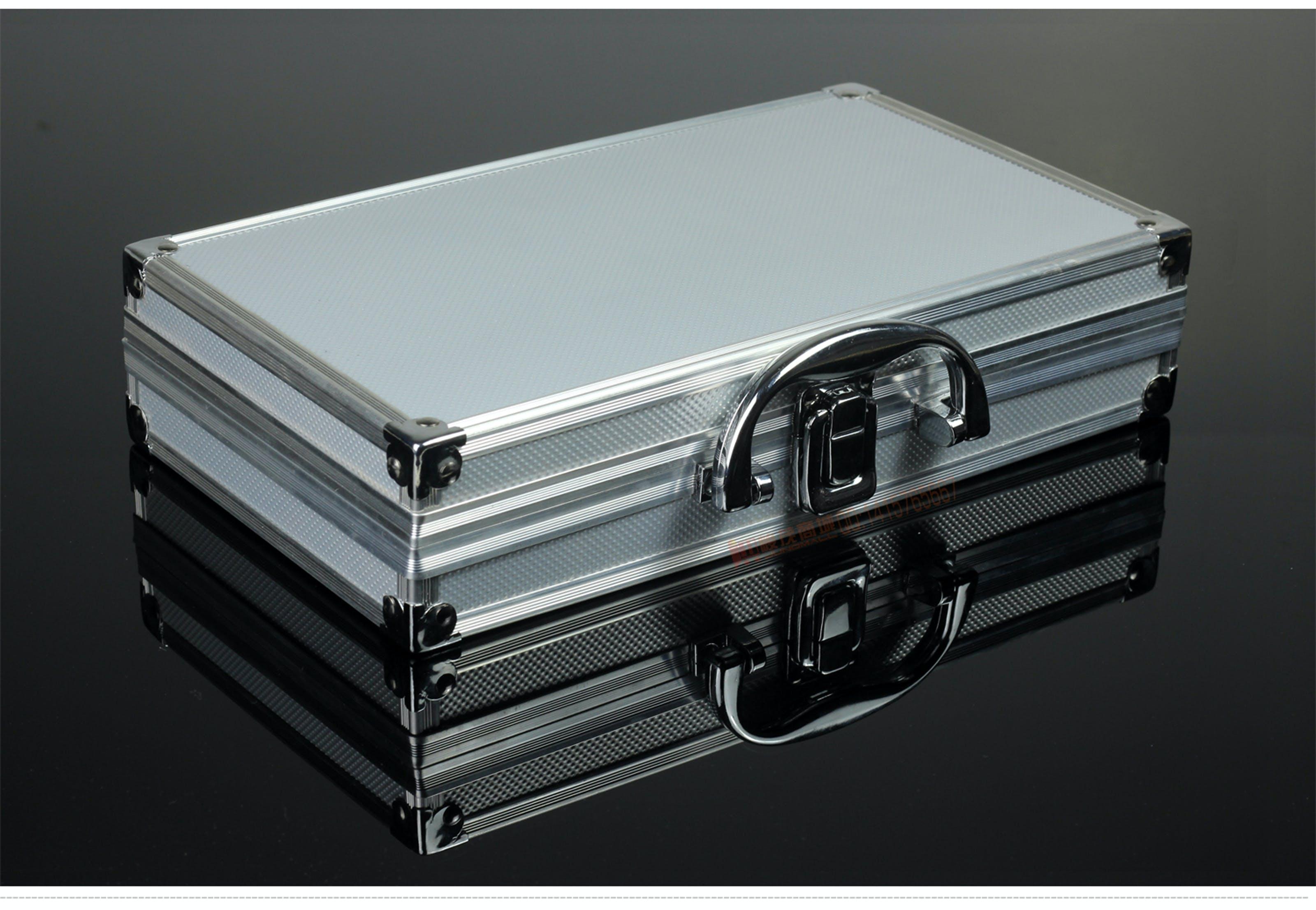 Grey Metal Briefcase