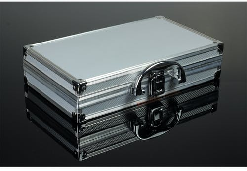 Imagine de stoc gratuită din caz atașat, Chrome, metalic, reflexie