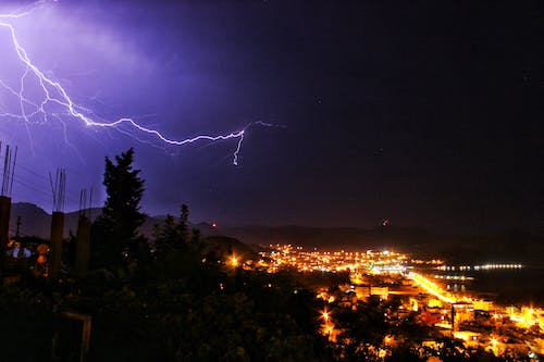 Free stock photo of lightning, night