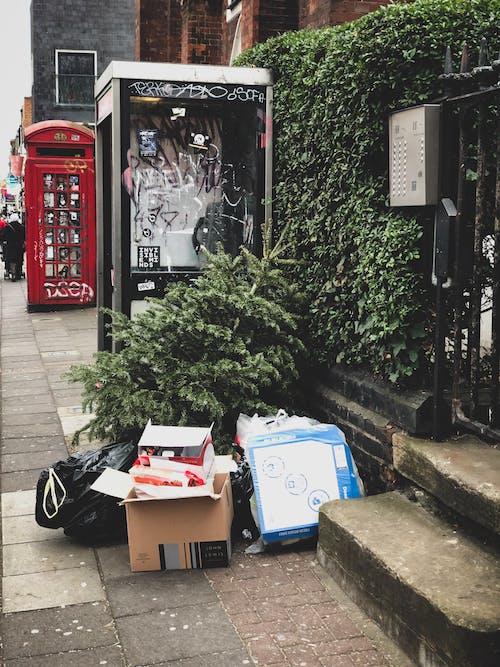 Imagine de stoc gratuită din caldarâm, drum, gunoi