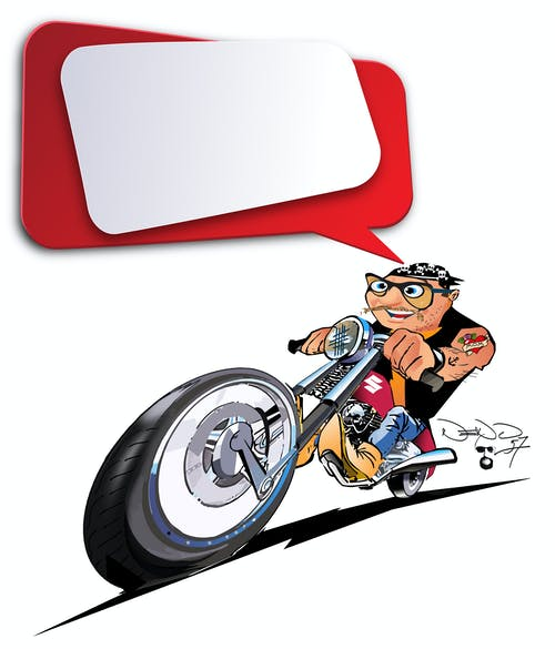 摩托車, 騎自行車的人 的 免費圖庫相片