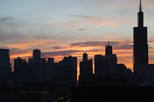 Silhouette of High Rise Buidlings