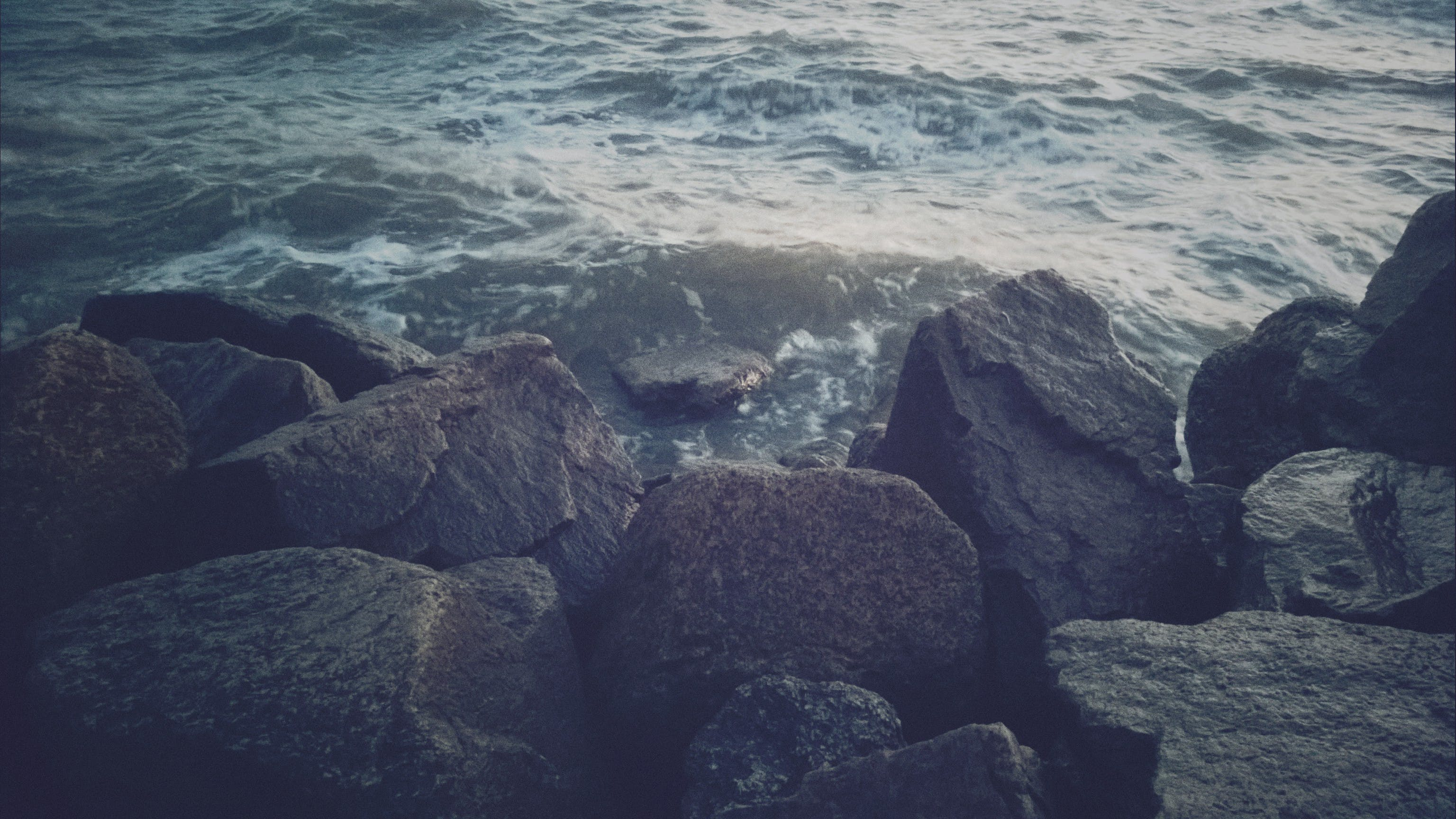 Free stock photo of sea beach, sea stones, storm