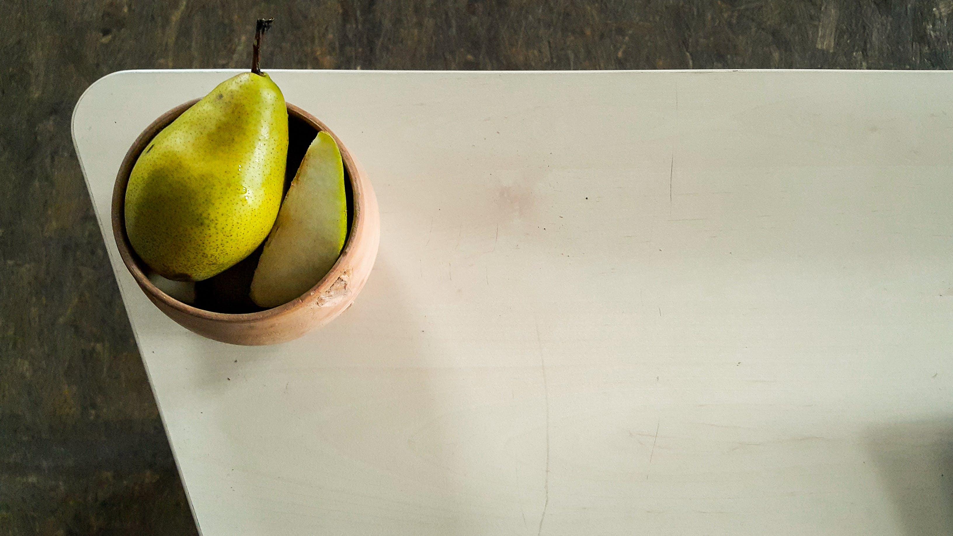 Free stock photo of food, food on the table, minimalism, pear