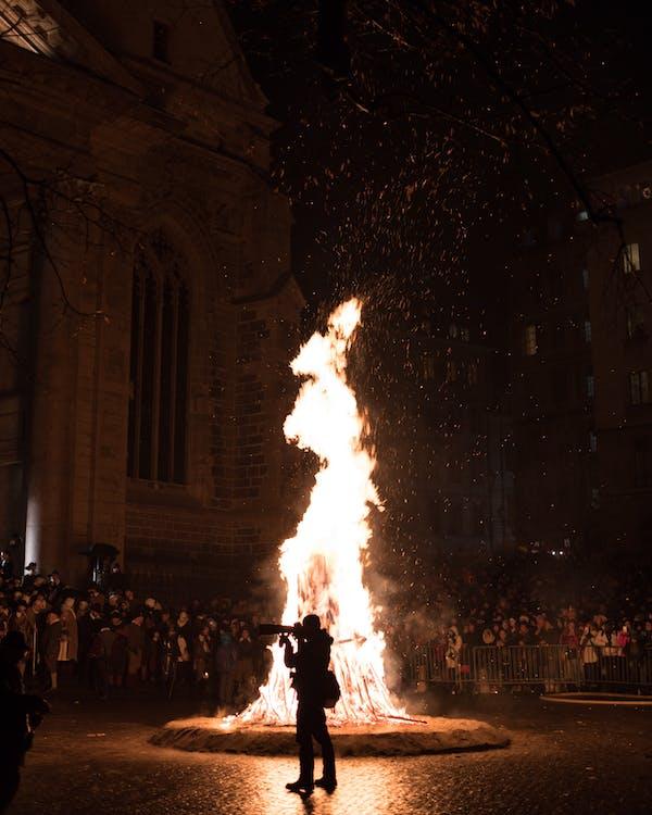 bonfire, brand, feestelijk