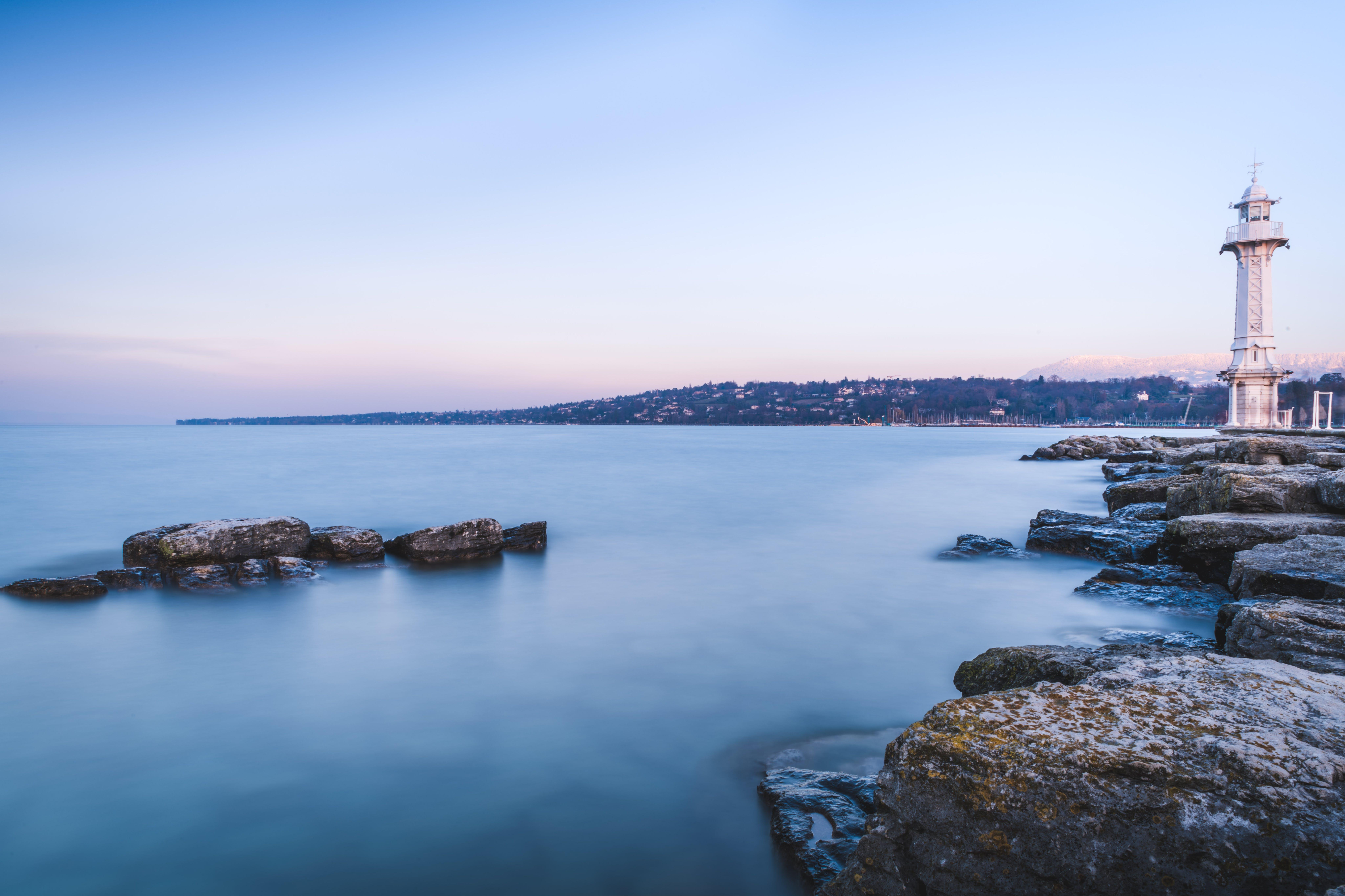 Free stock photo of blue water, lake, long exposure, sunset
