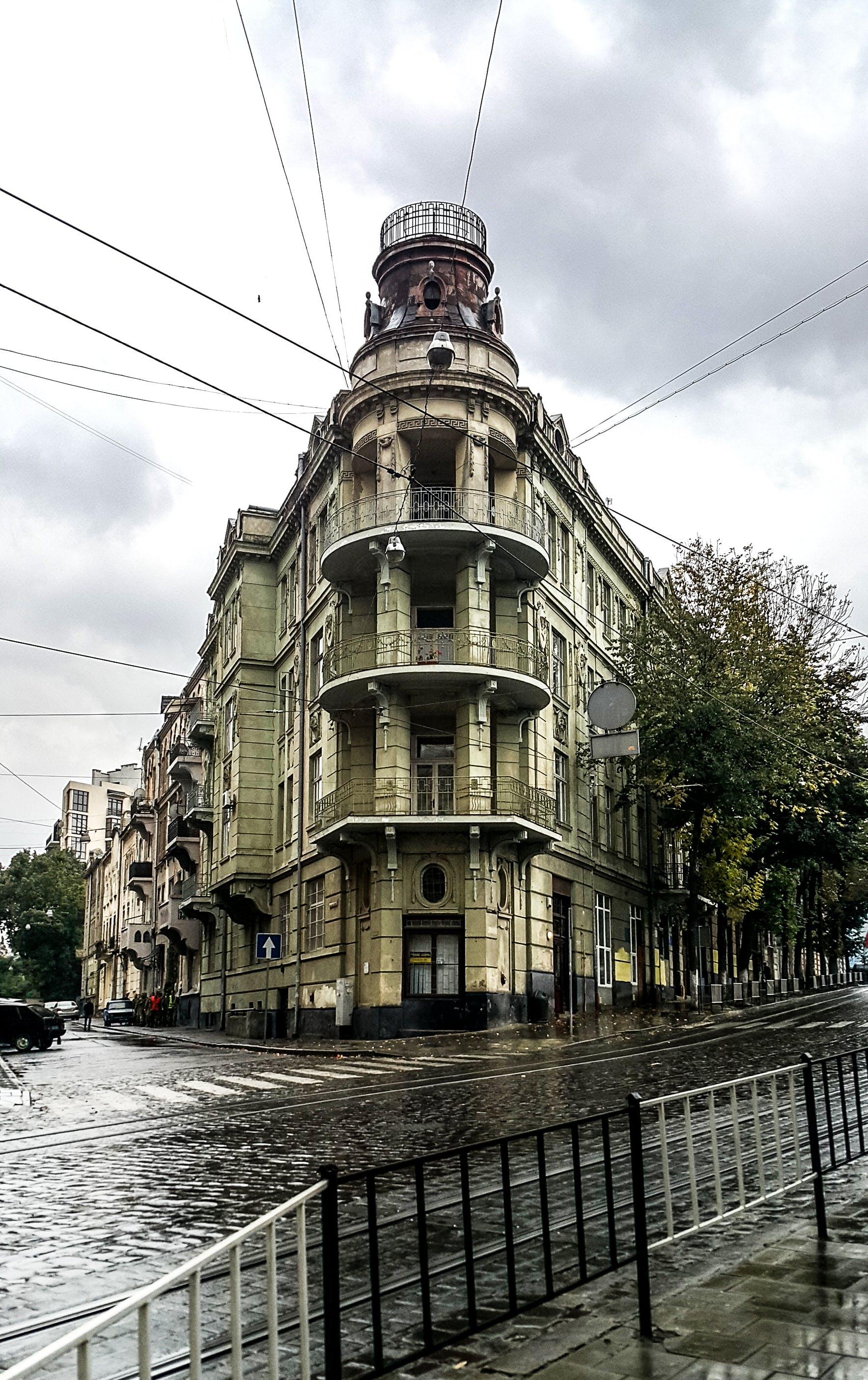 Free stock photo of architecture, city landscape, Lviv, rain