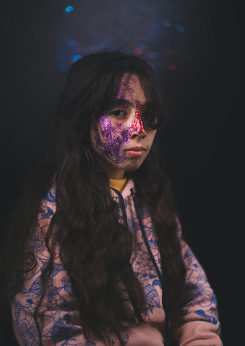 Imagine de stoc gratuită din arta fetei, copil, fată, față vopsită