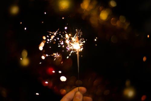 Imagine de stoc gratuită din an nou fericit, Crăciun, foc