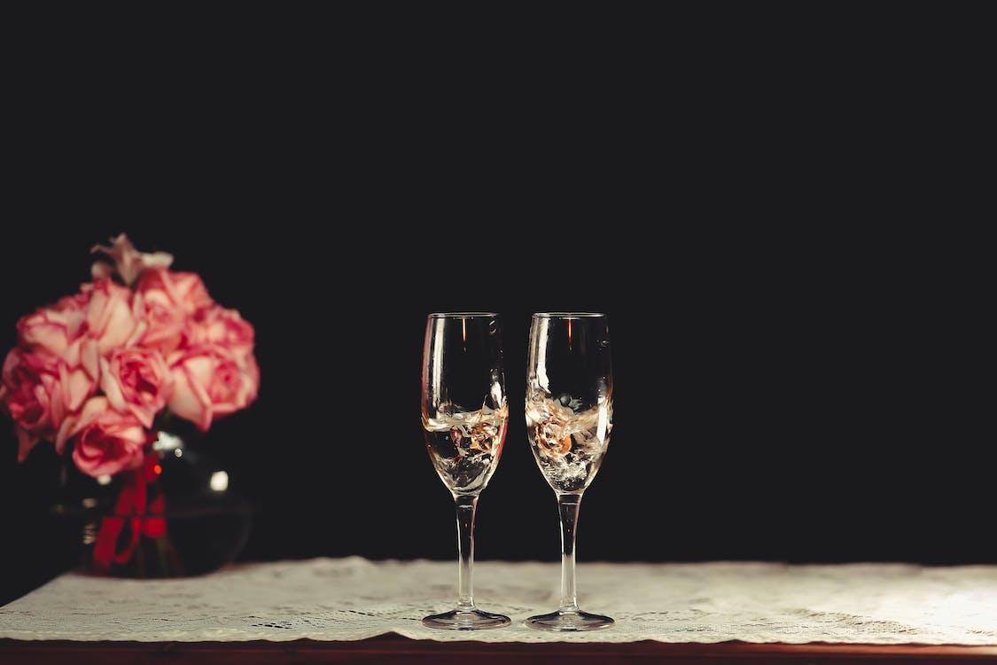 alkoholholdige drikkevarer, blomster, brennevin