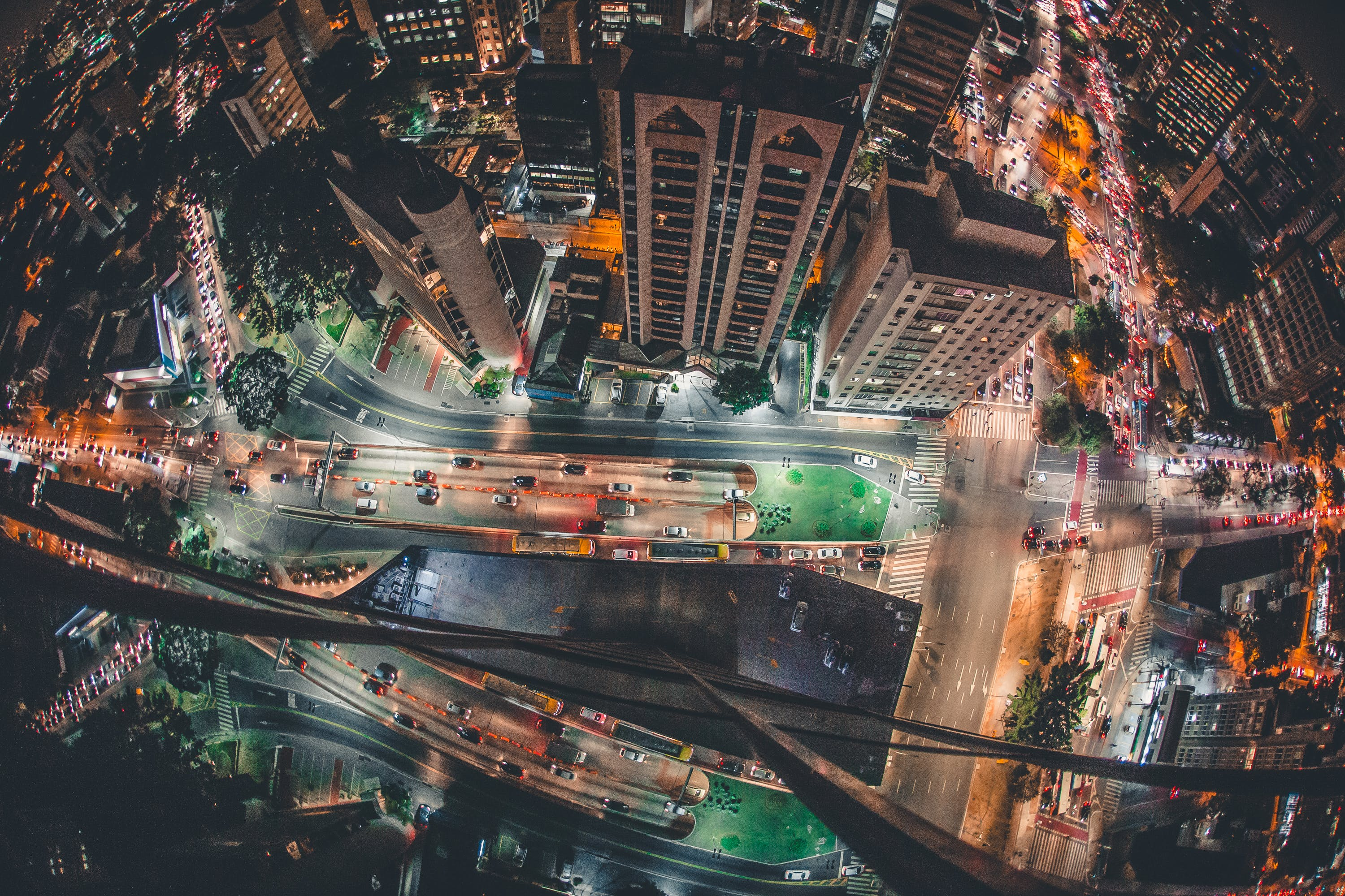 Bird's Eye View Photography Of Buildings During Nighttime