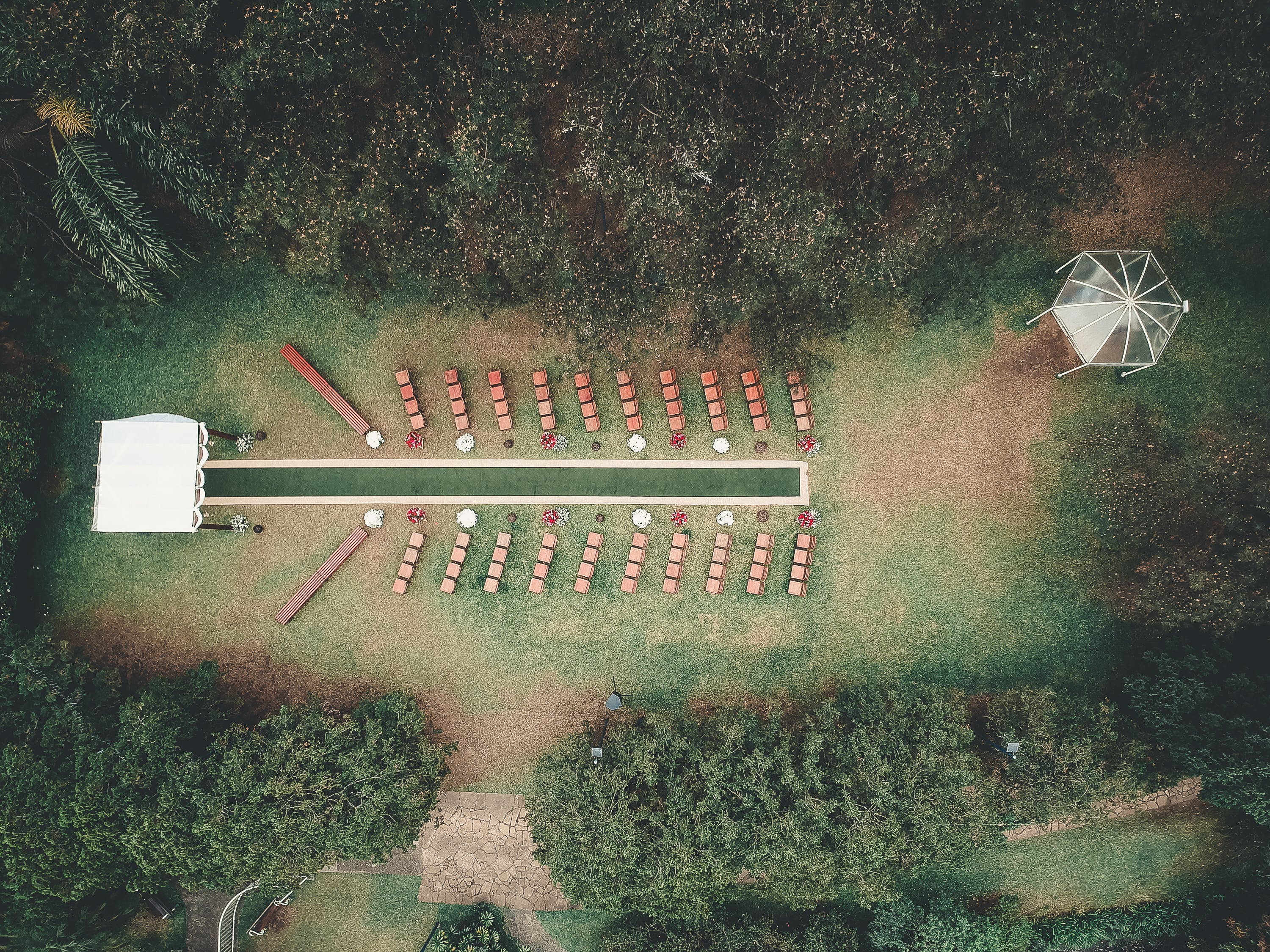Aerial Photography of House Surrounded by Trees