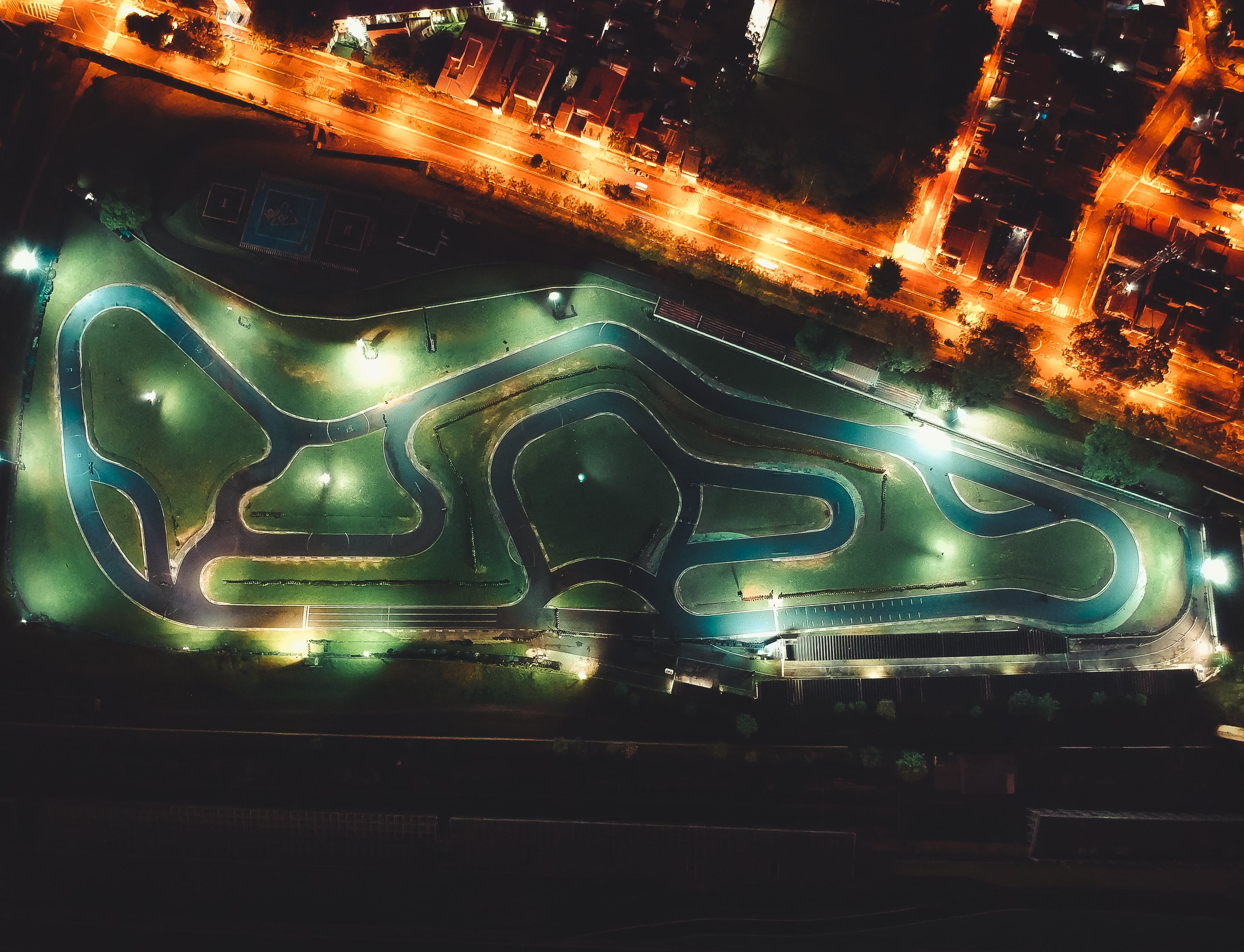 Aerial View Photography of Race Track
