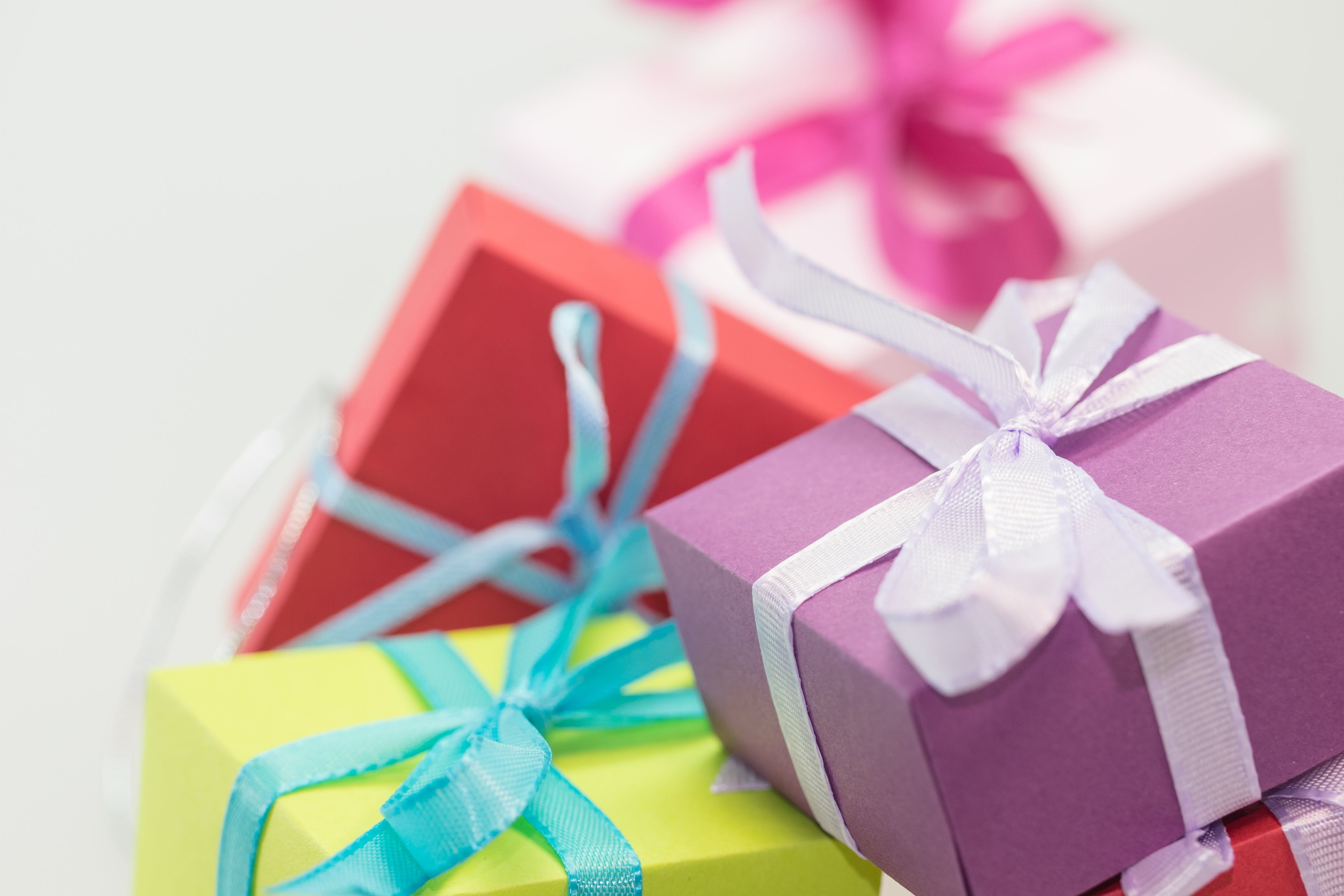 Selective Focus Photography of Gift Boxes