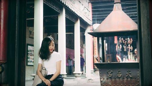 귀여운 소녀, 사랑스러운, 아시아 여성의 무료 스톡 사진