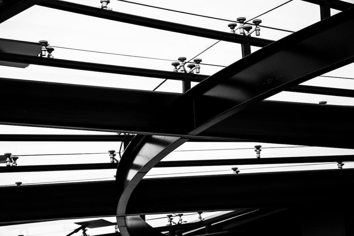 čáry, černobílá, drát