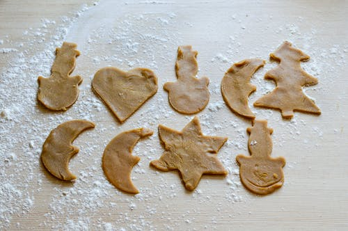 Free stock photo of dough, flour, gingerbreads