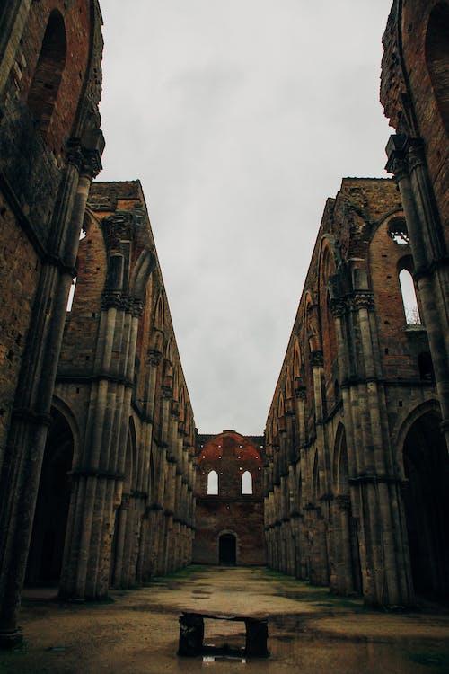 古老的, 外觀, 天空, 廢墟 的 免费素材照片