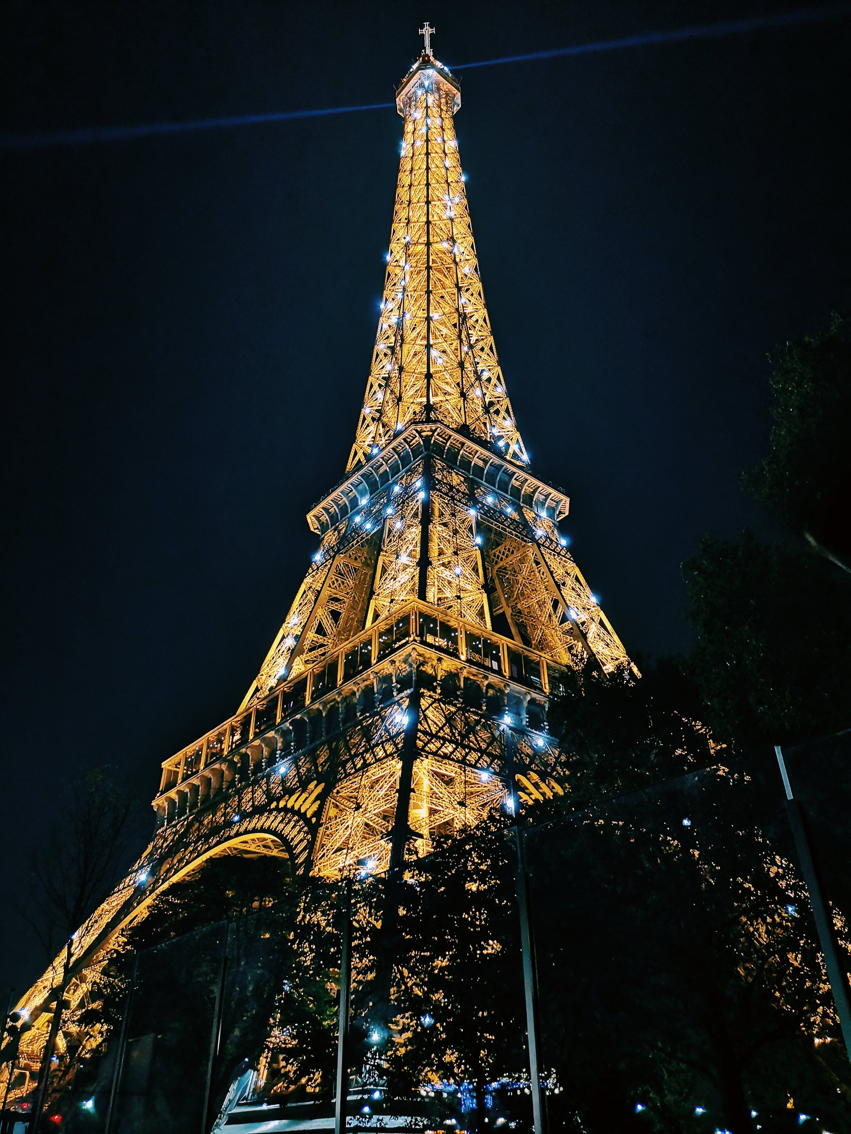 Eiffel Tower, Paris during Night Time