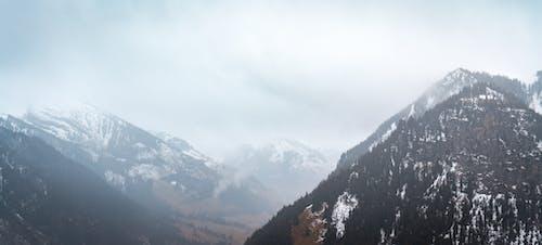 Foto profissional grátis de enevoado, inverno, montanha, natureza