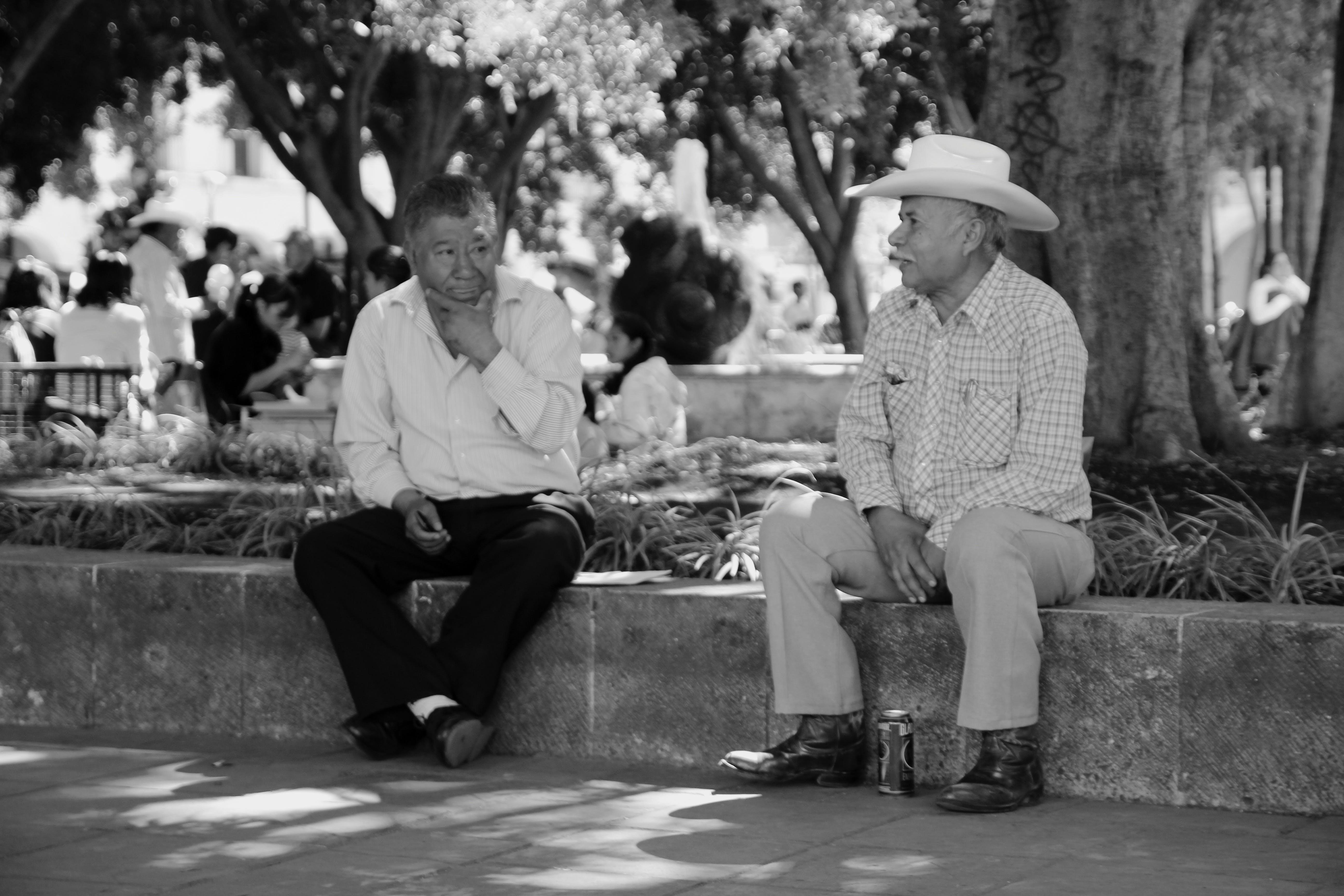 Free stock photo of black&white, black-and-white, conversation, mexico