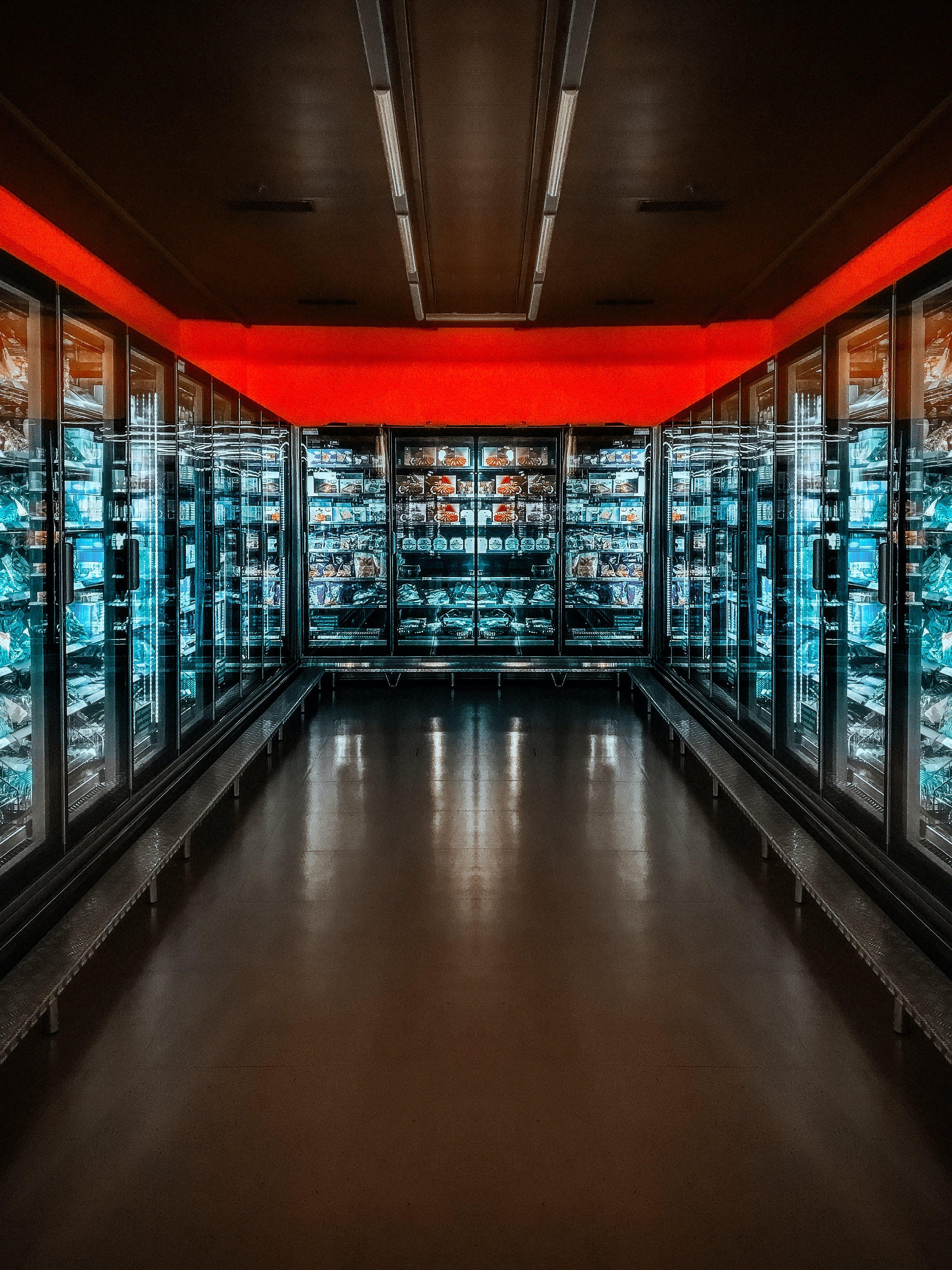 Black Commercial Refrigerator