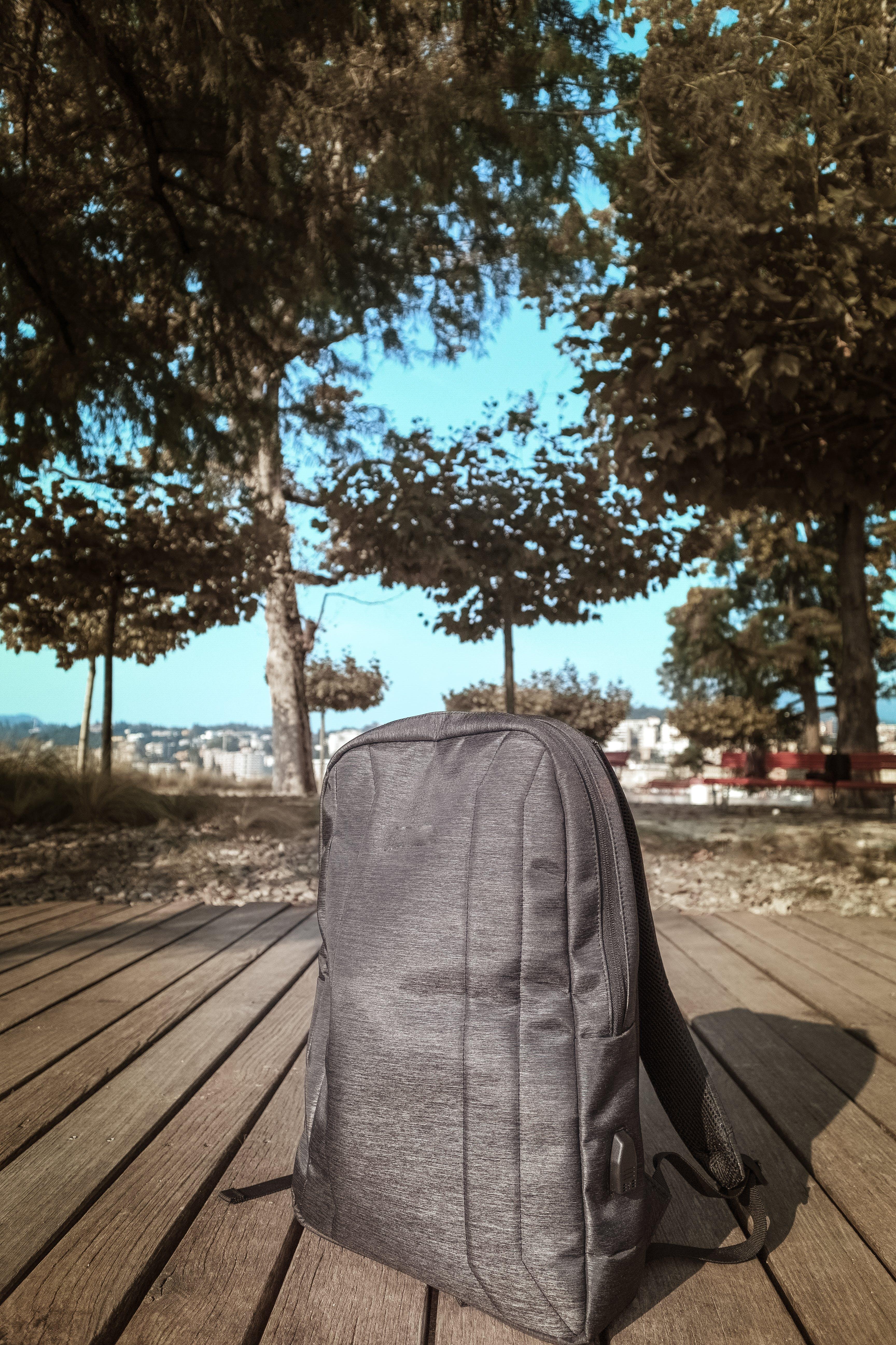Gray Backpack Outdoor