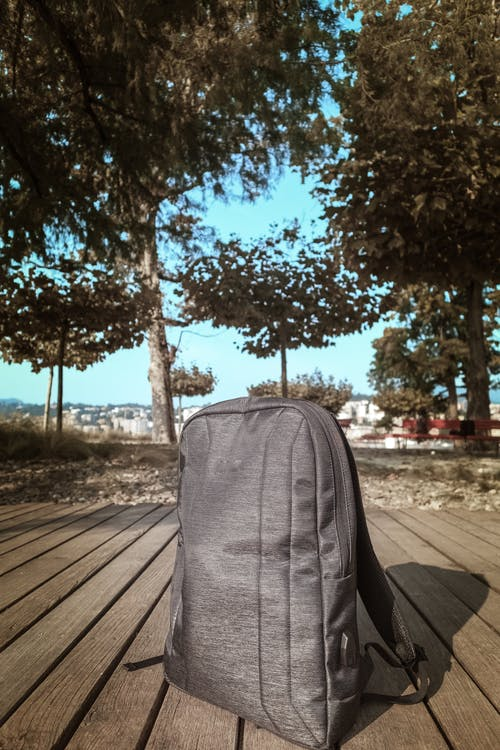 Gray Backpack Outdoor