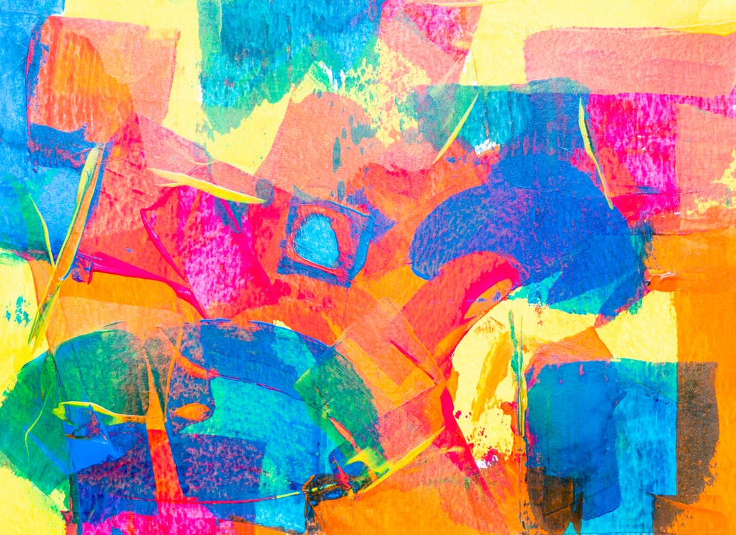 Orange and Yellow Abstract Painting