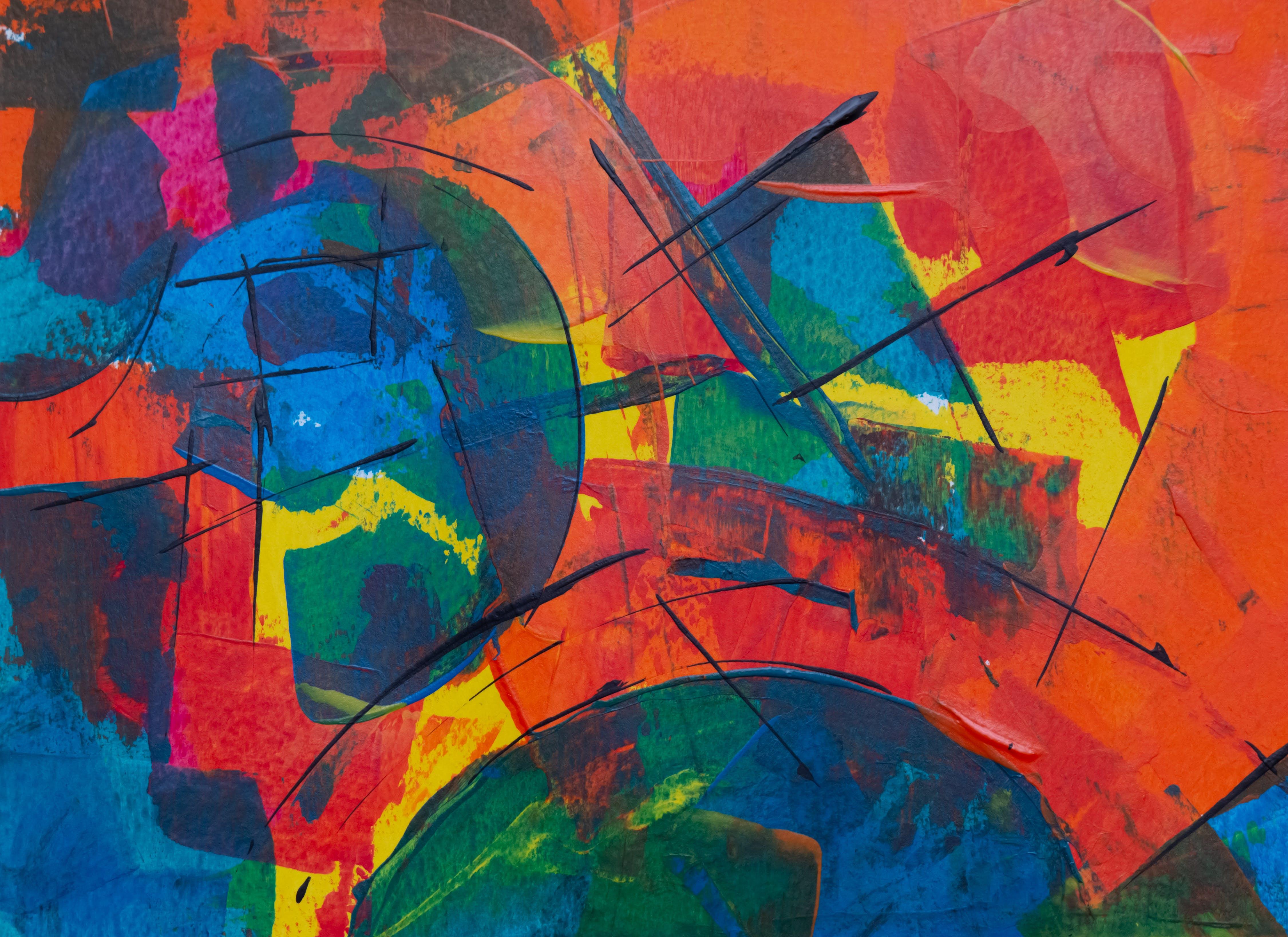 上色, 不同種類的, 丙烯酸塗料, 丙烯酸樹脂 的 免費圖庫相片