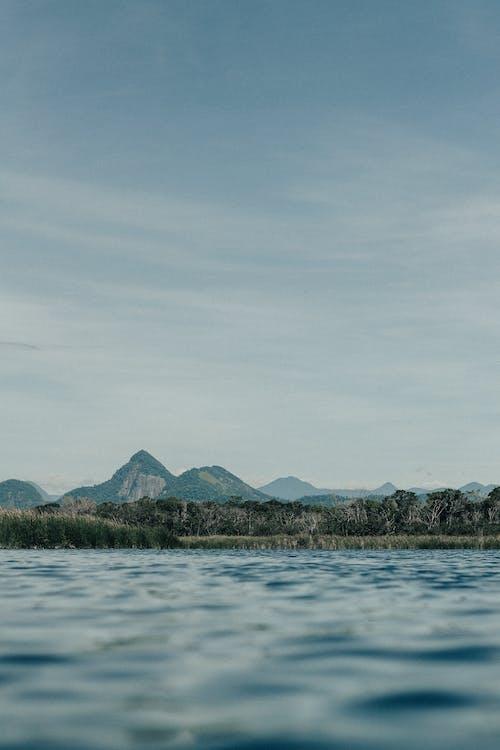 ağaçlar, bulutlar, dağ, doğa içeren Ücretsiz stok fotoğraf
